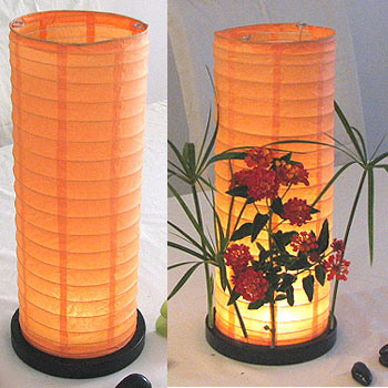 Table Centerpiece LED Battery Lanterns in Orange