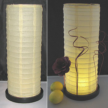 Table Centerpiece LED Battery Lanterns in Cream