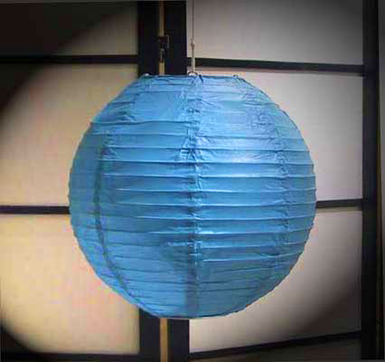 Even Ribbing Paper Lantern In Blue