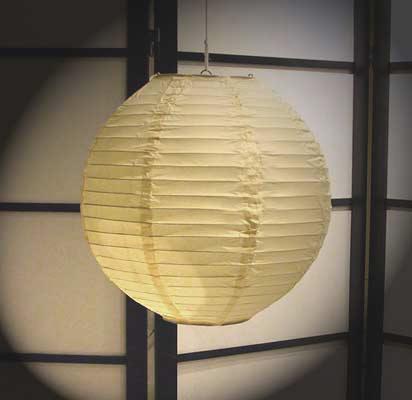 Even Ribbing Paper Lantern In Cream
