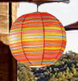 Preppy Stripe Red Round Lanterns