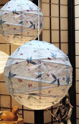 BOTANIC Leaves Petals Maru Lantern