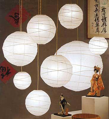 maru paper lantern in white