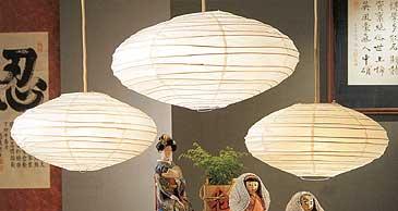 SATURN Paper Lantern In White