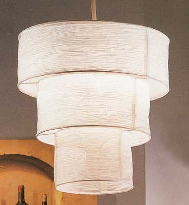 YOKO 3-Tier Round Paper Hanging Lamp with Electrical cord