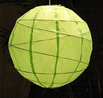 MARU Paper Lantern In Lime Green
