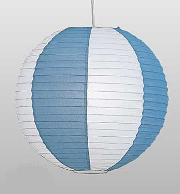 Two Tone Paper Lantern Blue-White