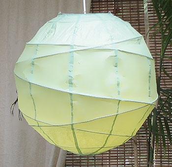 MARU Paper Lantern In Aqua Green