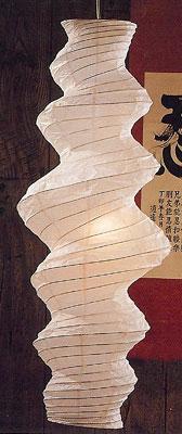 Large TSUMUJI Paper Lantern In White