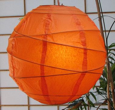 MARU Paper Lantern In Orange