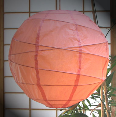 MARU Paper Lantern In Light-Pink
