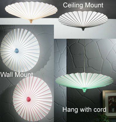 Parasol lamp shades hanging ceiling and wall mount paper parasol in rose pink mozeypictures Image collections