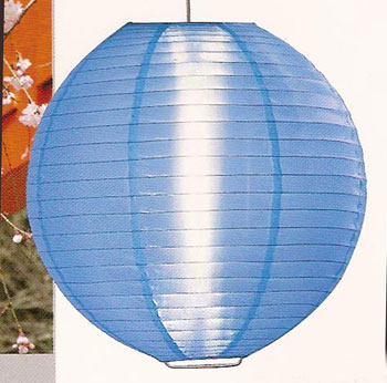 Even Ribbing Nylon Lantern In Light Blue