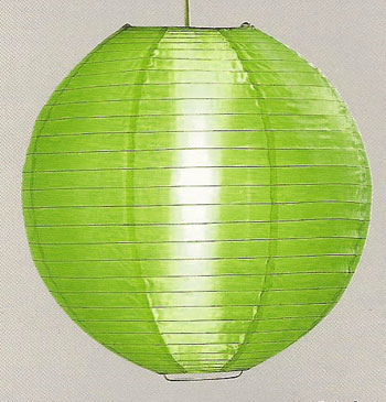 Even Ribbing Nylon Lantern In Grass Green