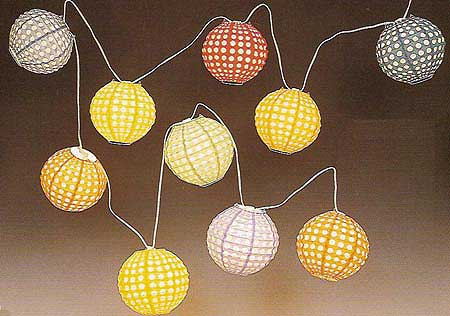 8inch Jumbo Dotted Round Party Light set