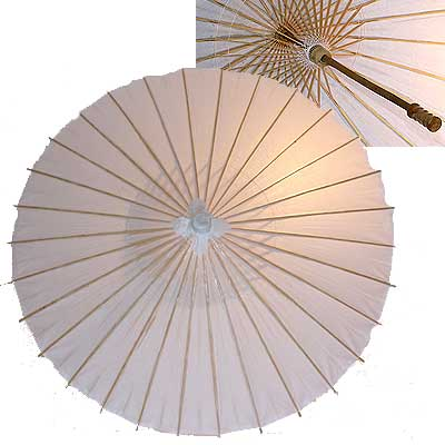 32in Paper Umbrella in WHITE