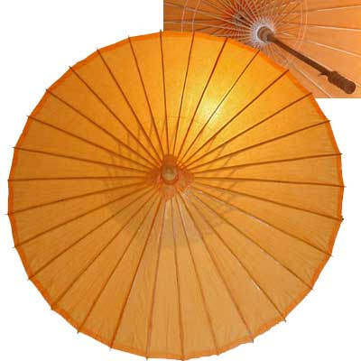 32in Paper Umbrella in ORANGE