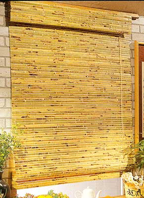 Burnt Bamboo Blind In Natural