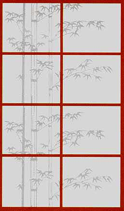 Bamboo Silhouette Shoji Paper