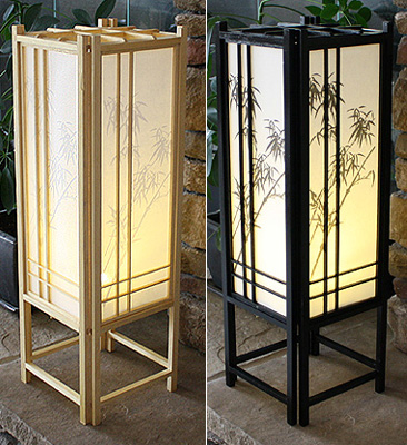 Superieur 23in Bamboo Off Set Shoji Lamp