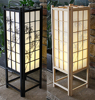 23in Bamboo Traditional Shoji Lamp