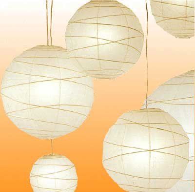 10PC Value-Pack MARU Paper Lantern In Cream
