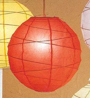 10PC Value-Pack MARU Paper Lantern In Red