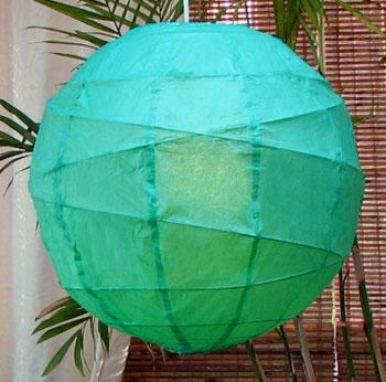 10PC Value-Pack MARU Paper Lantern In Green