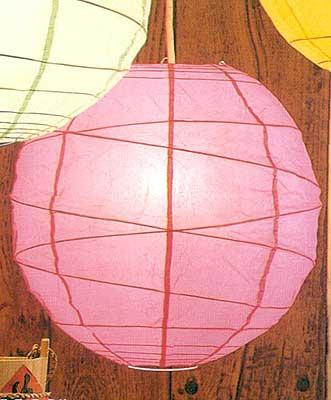 10PC Value-Pack MARU Paper Lantern In Rose Pink