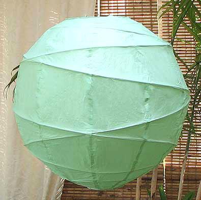 10PC Value-Pack MARU Paper Lantern In Aqua Green