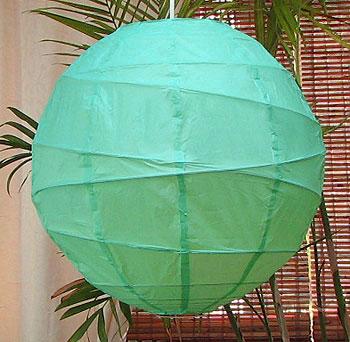 10PC Value-Pack MARU Paper Lantern In Jade Green