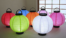 6pc. Value Pack Set LED Battery 8in Round Paper Lanterns