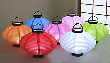 6pc. Value Pack Set LED Battery 10in Saturn Paper Lanterns