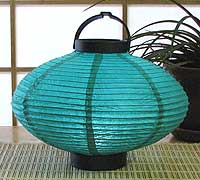 LED Battery 10in Saturn Paper Lanterns in TURQUOISE