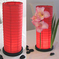 Table Centerpiece LED Battery Lanterns in Red