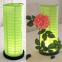 Table Centerpiece LED Battery Lanterns in Lime Green
