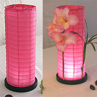 Table Centerpiece LED Battery Lanterns in Rose Pink