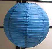 Even Ribbing Paper Lantern In Blue
