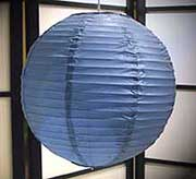 Even Ribbing Paper Lantern In Dark Blue