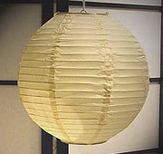 Even Ribbing Paper Lantern In Cream