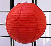 Even Ribbing Paper Lantern In Red