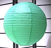 Even Ribbing Paper Lantern In Jade-Green