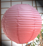 Even Ribbing Paper Lantern In Light-Pink