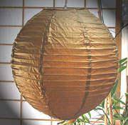 Even Ribbing Paper Lantern In GOLD