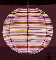 Preppy Stripe Purple Round Lanterns
