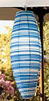 Preppy Stripe Blue Shuttle Lanterns