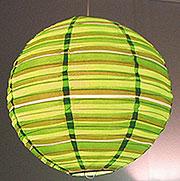 Preppy Stripe Green Round Lanterns