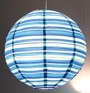 Preppy Stripe Blue Round Lanterns