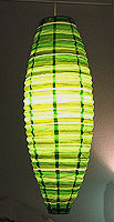 Preppy Stripe Green Shuttle Lanterns
