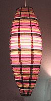 Preppy Stripe Purple Shuttle Lanterns